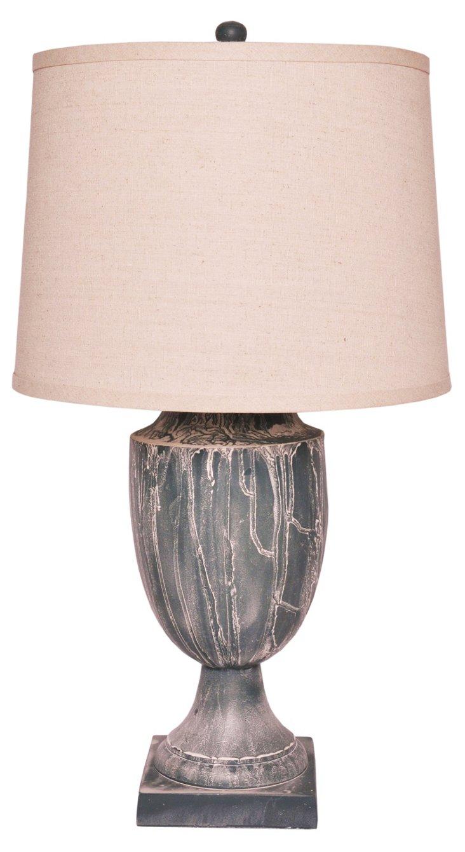 Watford Table Lamp, Gray Patina