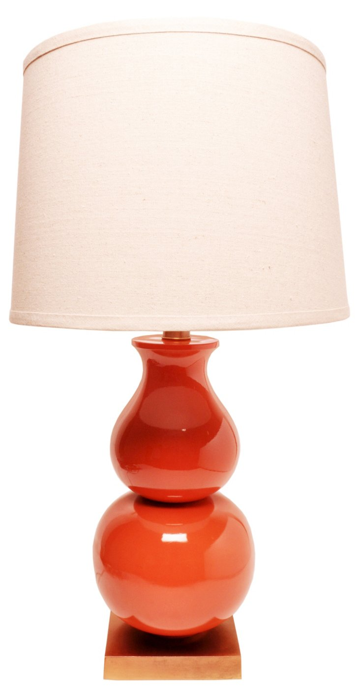 Norwich Table Lamp, Red