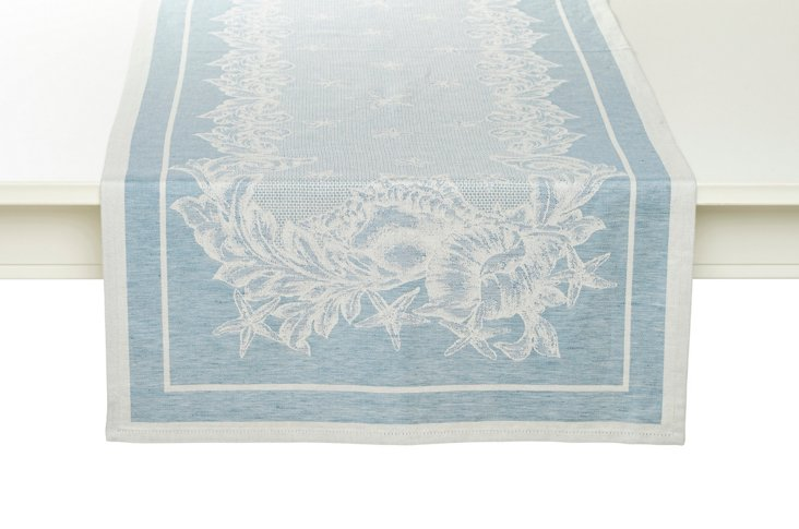 Mediterranean Table Runner, Blue