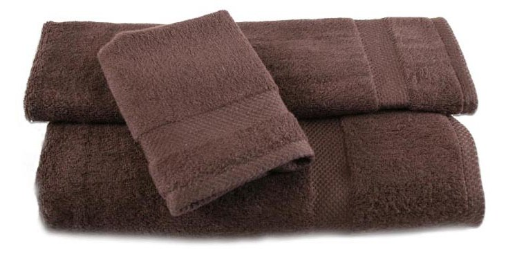 3-Pc Bamboo Towel Set, Chocolate