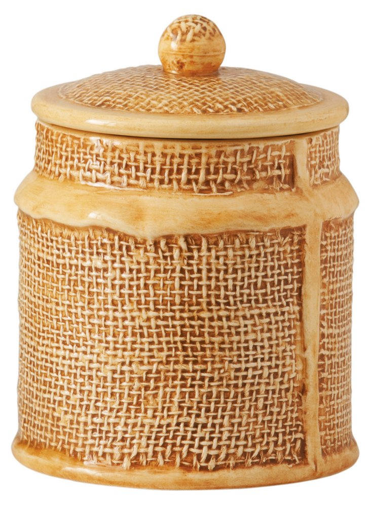 Jute Small Canister
