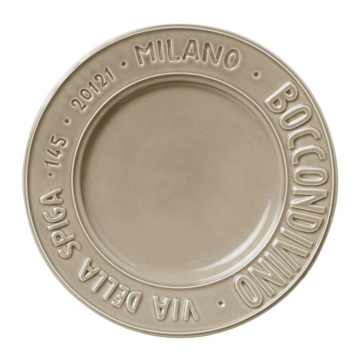 Metro Milano Salad Plate, Taupe