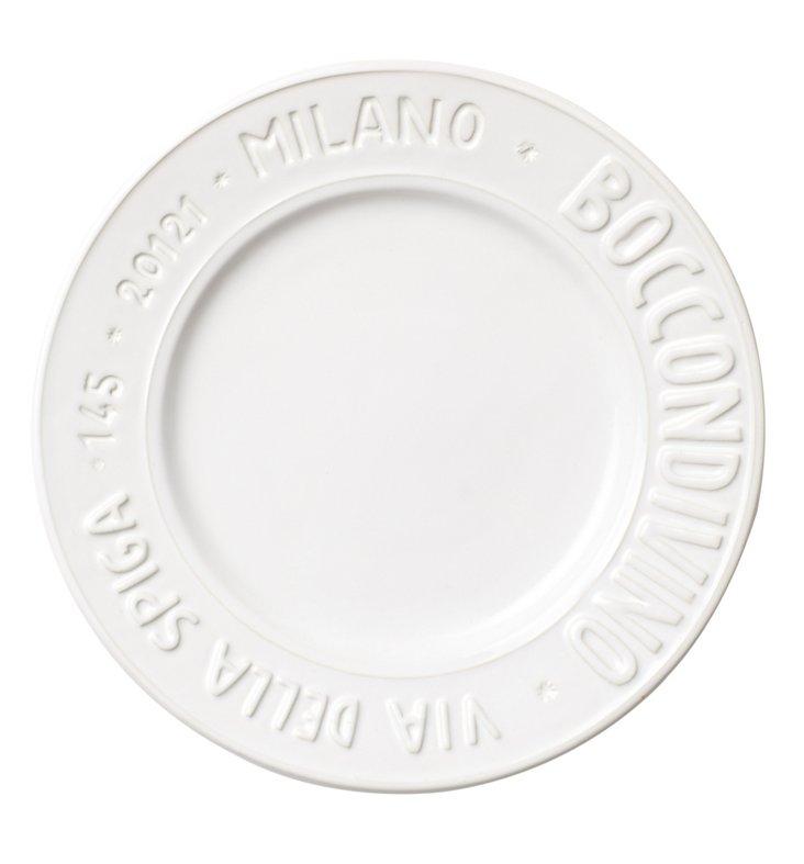 Metro Milano Salad Plate, White