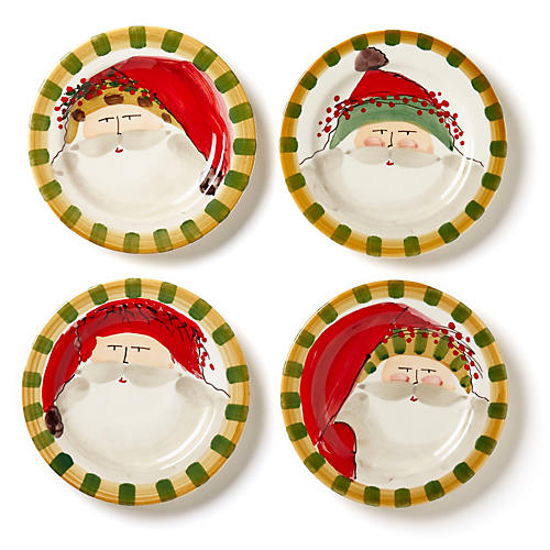 S/4 Old St. Nick Round Salad Plates