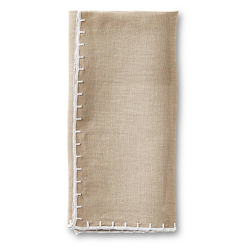 Whipstitch Napkin, Natural
