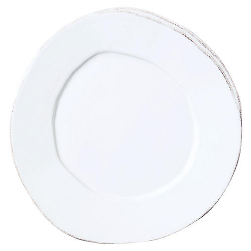 Lastra Salad Plate, White