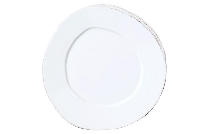 Lastra Salad Plate, White