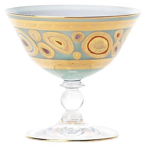 Regalia Dessert Bowl, Aqua