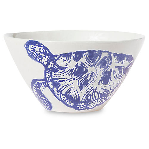 Costiera Turtle Cereal Bowl, Blue
