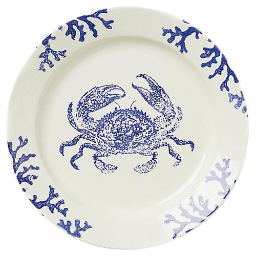 Costiera Round Crab Platter, Blue