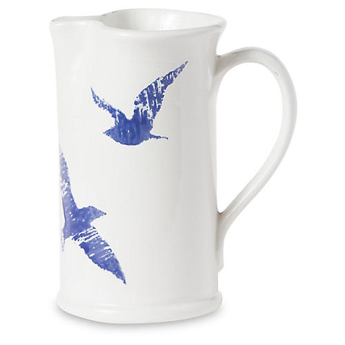 Costiera Seagull Pitcher, White