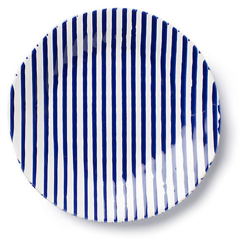 Net & Stripe Stripe Dinner Plate, Blue