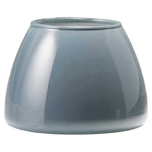 Italian Glass Votive, Gray