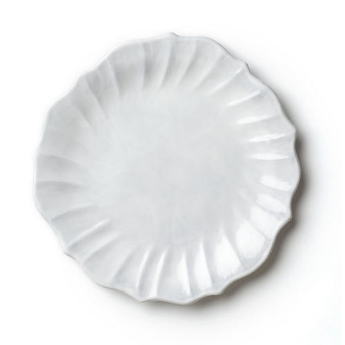 Incanto Ruffle European Dinner Plate, White