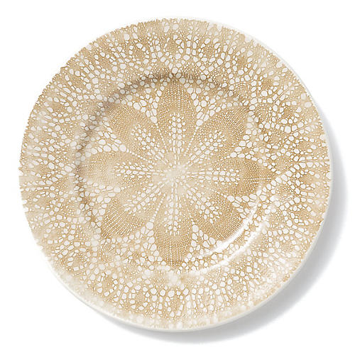 Lace Dinner Plate, Natural