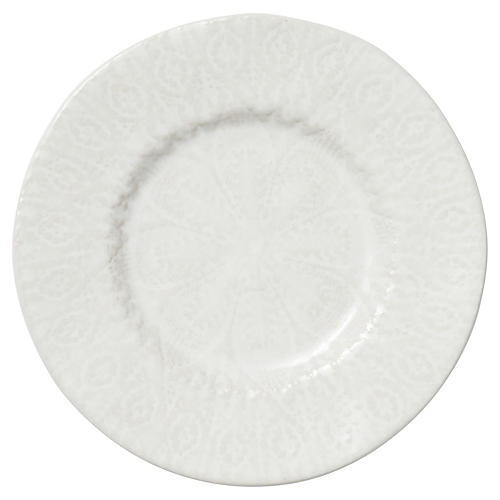 Lace Salad Plate, White