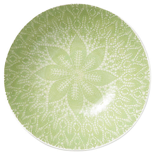 Lace Medium Serving Bowl, Pistachio