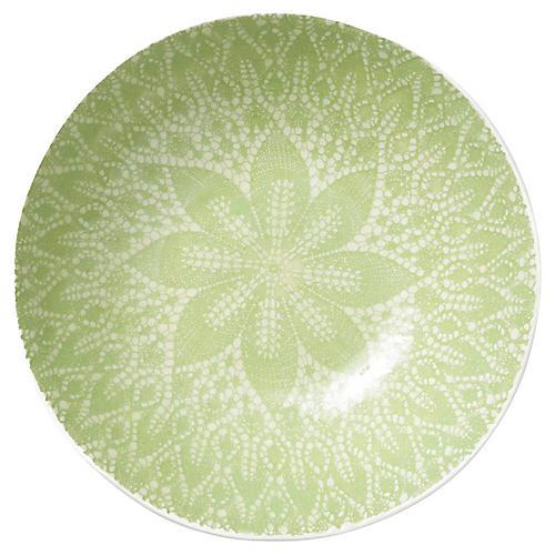 Lace Medium Serving Bowl, Pistachio