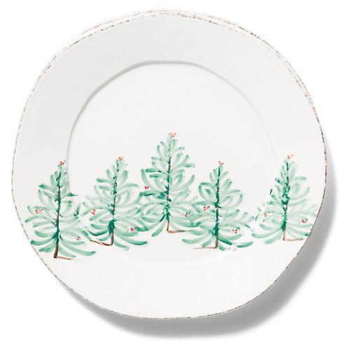 Lastra Holiday Platter, White/Multi
