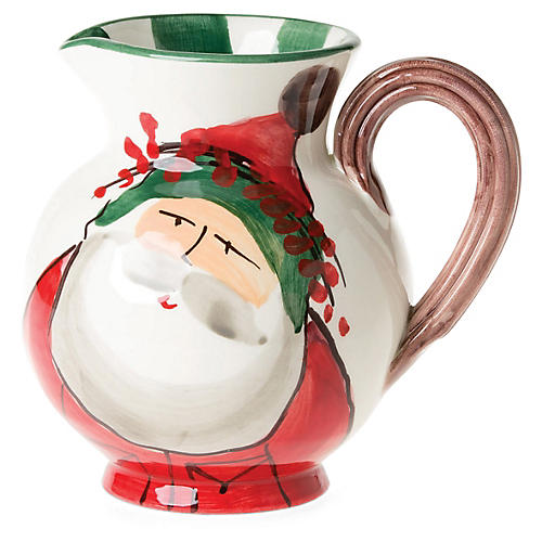 Old St. Nick Pitcher, Red/Multi