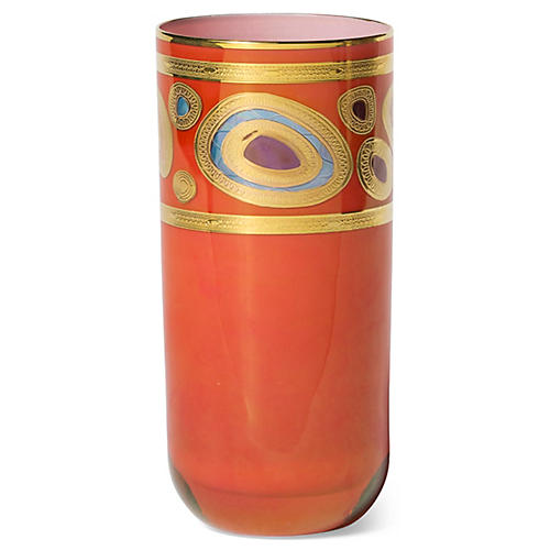 Regalia Highball Glass, Orange/Multi