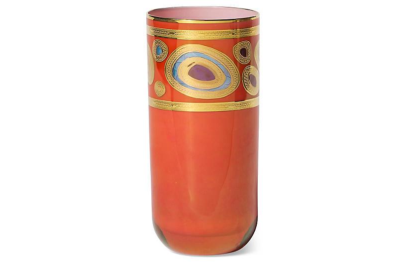 Regalia Highball Glass, Orange/Multi