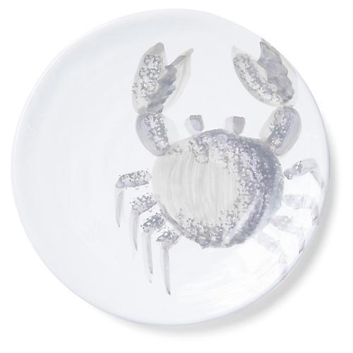 Marina Crab Salad Plate, Ivory/Gray