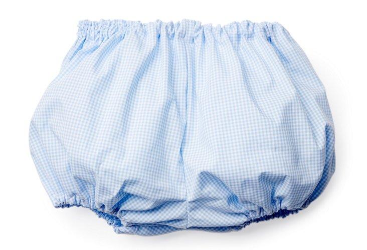 Light Blue Gingham Diaper Cover
