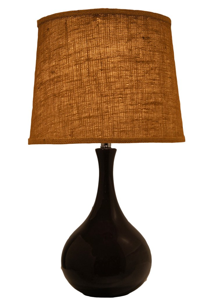 Brentwood Table Lamp, Dark Chocolate