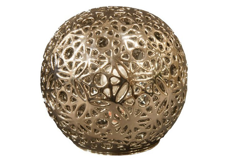 Orb Table Lamp, Silver