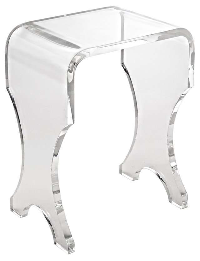 "Hayes 13"" Acrylic Bench, Clear"