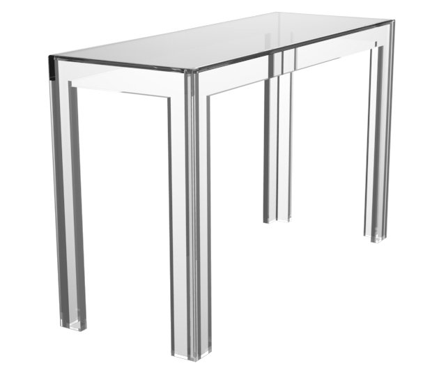 "Oliver 48"" Glass-Top Desk, Clear"