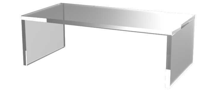 """48"""" Grayson Coffee Table, Clear"""