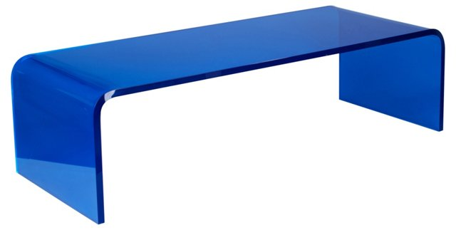 "Preston 48"" Cocktail Table, Sapphire"