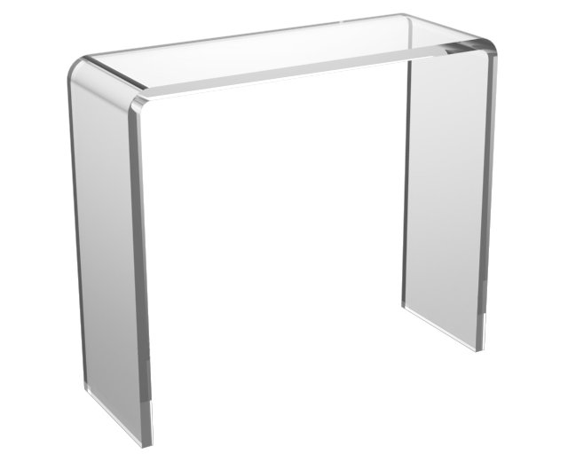 """Asher 35"""" Acrylic Console Table, Clear"""