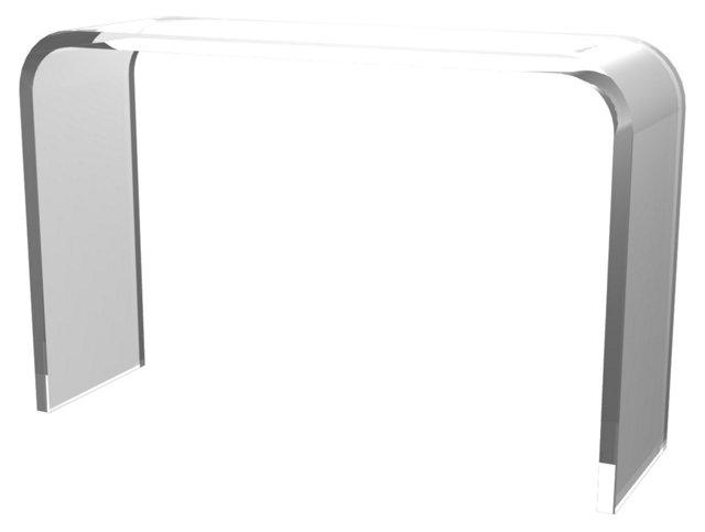 """Leo 48"""" Acrylic Console Table, Clear"""