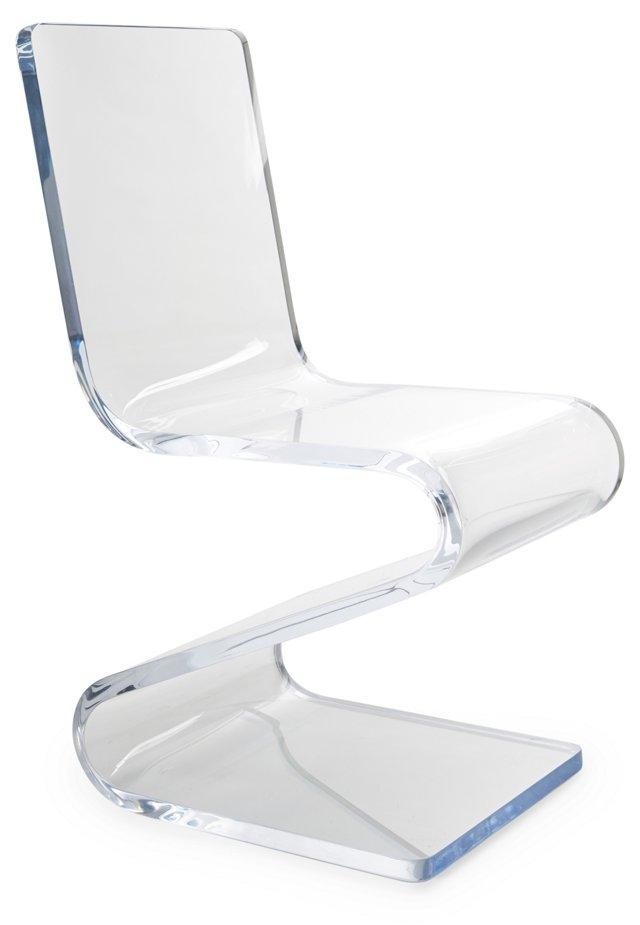 Gage Acrylic Side Z-Chair, Clear
