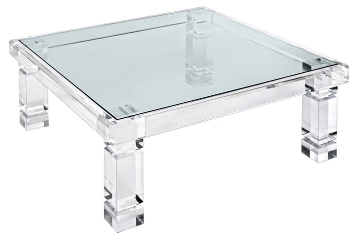 """Adrienne 42"""" Cocktail Table, Clear"""