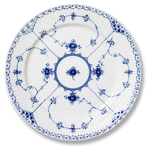 Half Lace Salad Plate, Blue