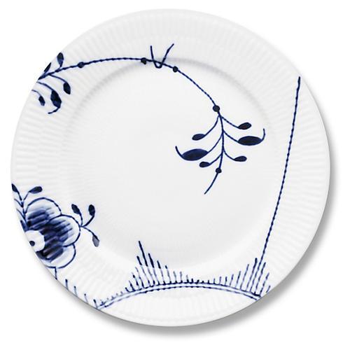Mega Salad Plate, Blue/White