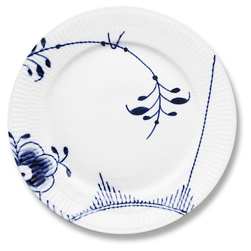 Mega Salad Plate, Blue/White