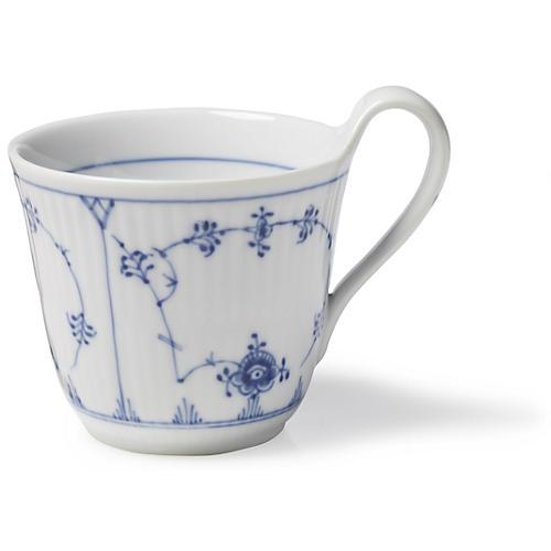 Blue Plain High Handle Mug, 11 Oz