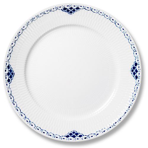 Princess Dinner Plate, Blue/White