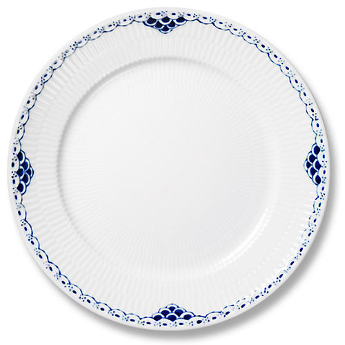 Princess Dinner Plate, Blue/White