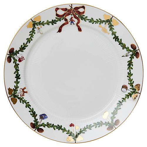 """Star Fluted Dessert Plate, 7.5"""""""