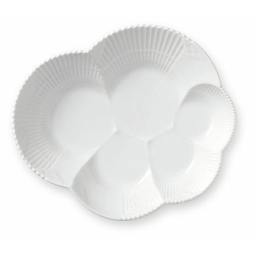 Elements Serving Plate, White