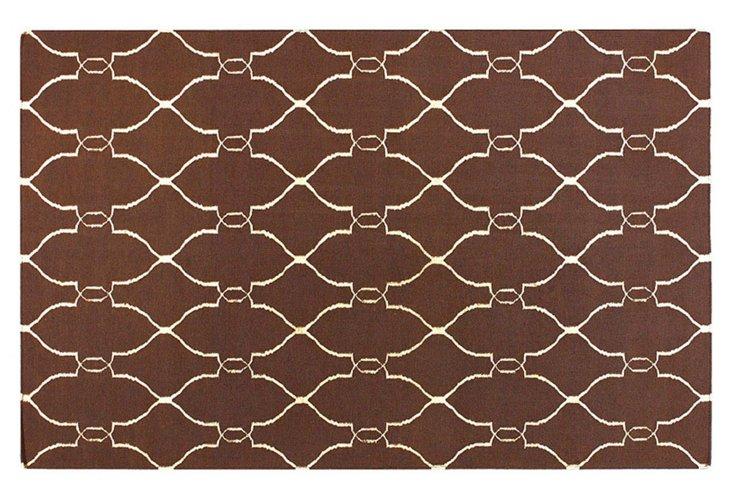 2'x3' Pippa Flat-Weave Rug, Brown