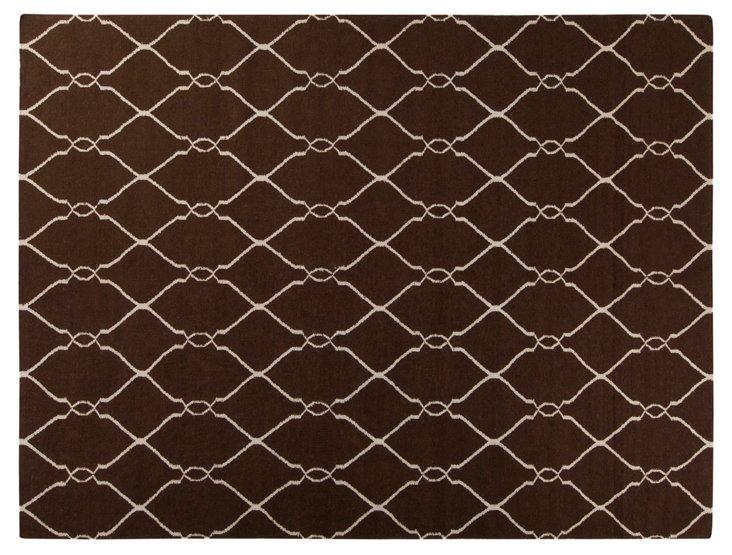 Pippa Flat-Weave Rug, Brown