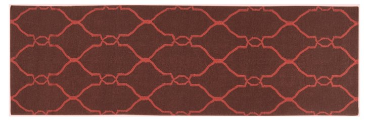 "2'6""x8' Pippa Runner, Cocoa/Red"