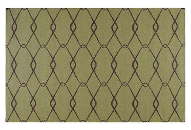 Orion Flat-Weave Rug, Olive